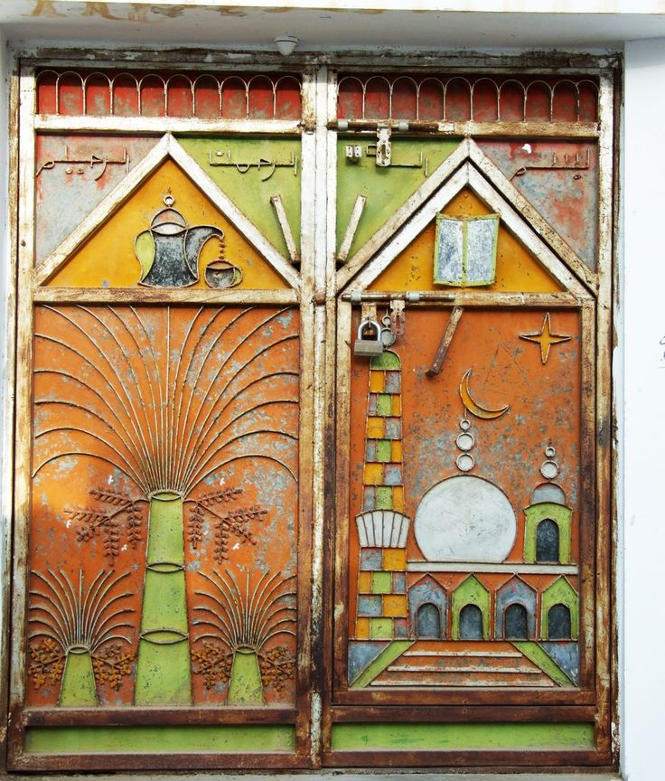 Oman | Metal Door with Padlock. credit: PierreHaut. view on Fb https://www.facebook.com/SinbadsOmanPocketGuide #oman #traveltooman #sinbadpocketguide