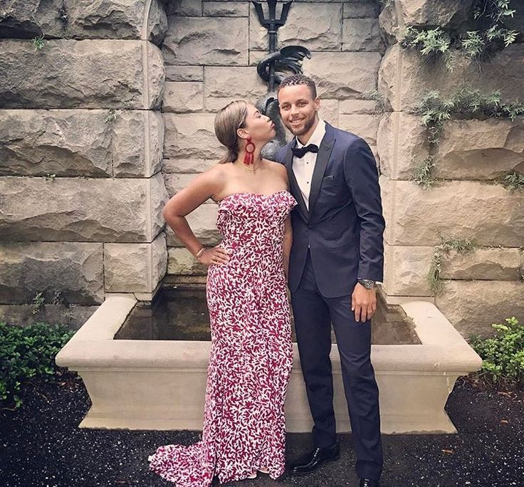 Stephen and Ayesha Curry attend the wedding of Kent Bazemore of Saturday July 8.