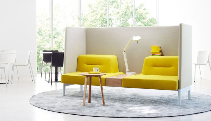 Ophelis Docks by Envoy. The Ophelis Docks range showcases some bright, modern, functional furniture for the office.