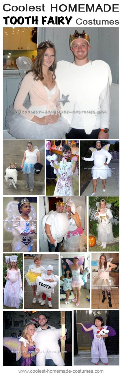 Homemade Tooth and Tooth Fairy Couple Costume Collection - Coolest Halloween Costume Contest, #DeltaDental