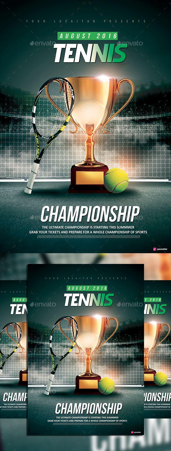 Tennis Championship. Psd TemplatesFlyer ...