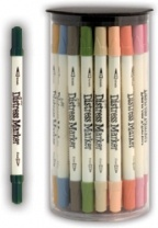 Tim Holtz Distress Markers, available through Custom Crops on line, matches all the distress inks! How awesome is that????