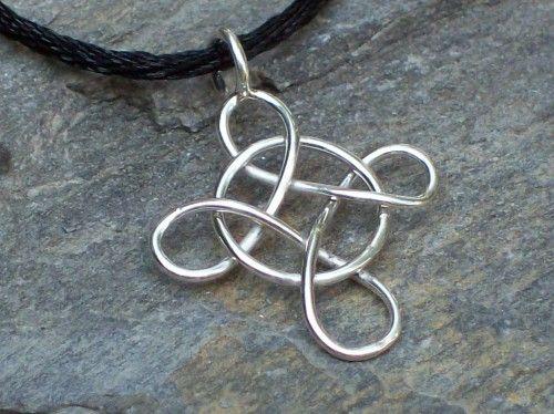 Handcrafted Sterling Silver Intertwined Wire Celtic Cross | SandyToesJewelry - Jewelry on ArtFire