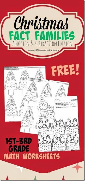 FREE Christmas Math Pack-Fact Families