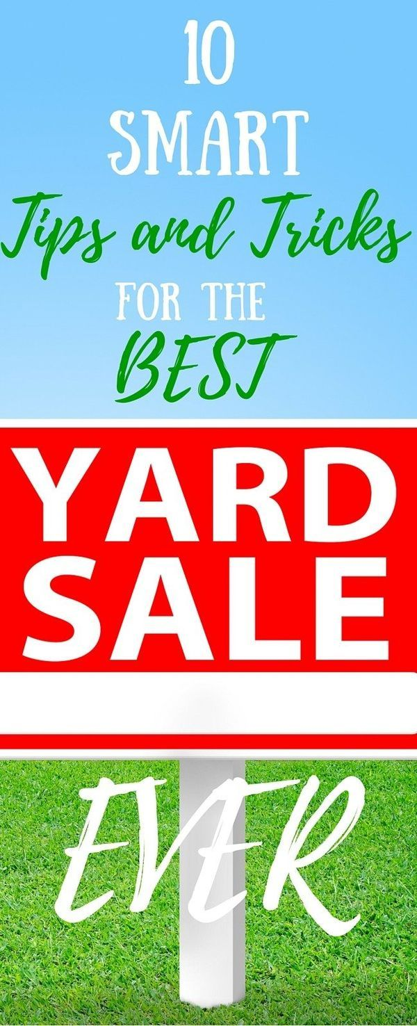 how to have the best yard sale ever
