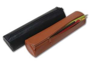 Leather Cylindrical Artists' Pencil Cases