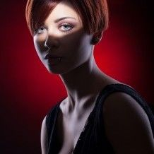 Portrait photo and lighting setup with Strobe and Strip Softbox by Anton Dimov (1/200 sec., f/8, ISO: 100)