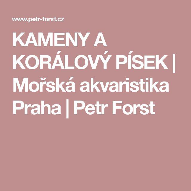 KAMENY A KORÁLOVÝ PÍSEK | Mořská akvaristika Praha | Petr Forst