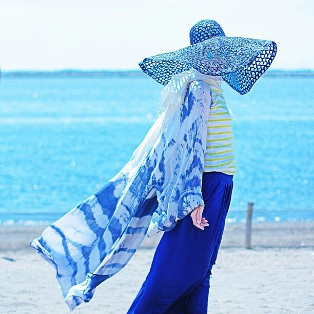 Hijab with hat..