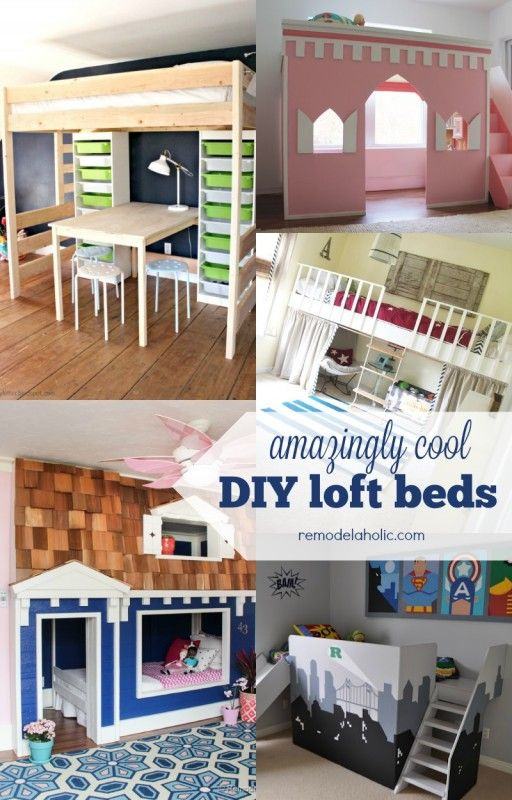 These amazing loft beds for kids will give your child extra space to play and study by freeing up the space under the bed. Build one of these DIY jobs this weekend!