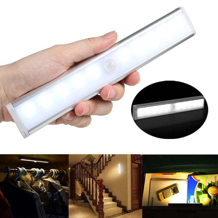 10-leds Battery Operated motion sensor cupboard light for Attics, Hallway, Washroom,Cabinet and cupboard