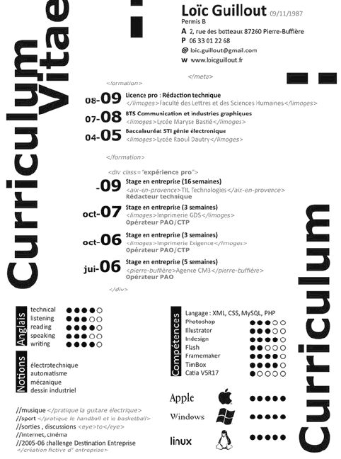 Best Curriculum Images On   Creative Resume Resume