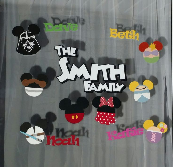Custom Order Disney Vacation Hotel Window Decorations by ScrapWithMeToo on Etsy