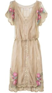 Boncuk İşlemeli Dantel Elbise