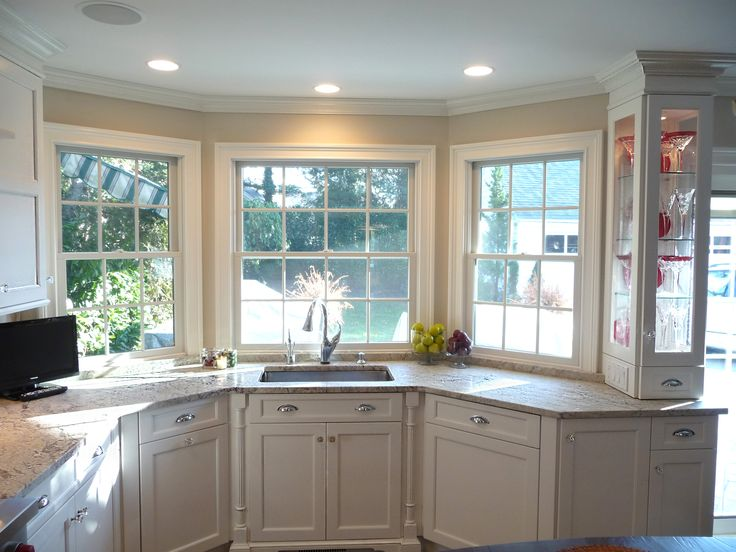 This spring lake new jersey shore kitchen displays a for Brookhaven kitchen cabinets price