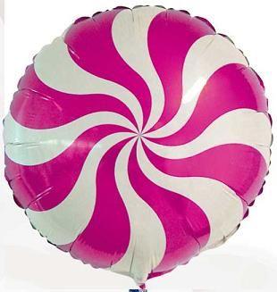 Balão Pirulito Rosa Pink Redemoinho dos Doces Candy Swirl Blue - Estilo e festas