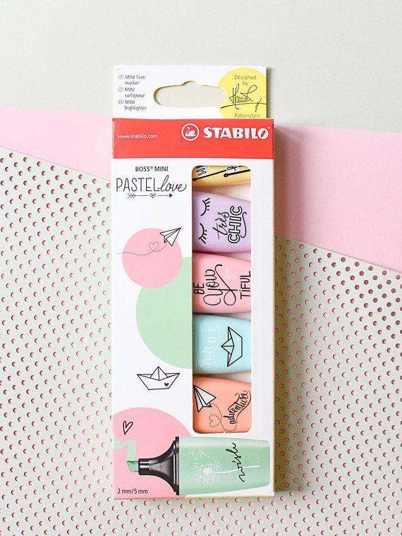 Stabilo Boss Mini Pastel highlighters Pastel mini
