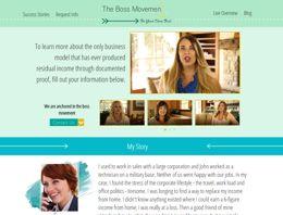 Lead generating website created for TheBossMovement.com Melaleuca Inc. Network Marketing