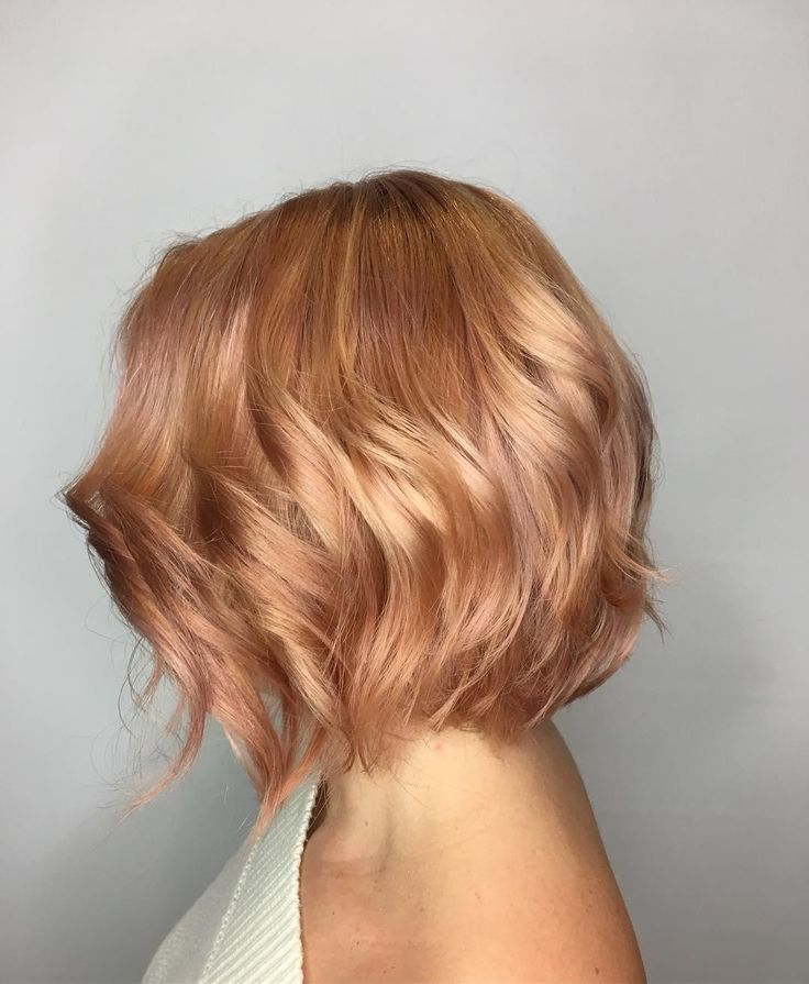 Add a hint of rosy tones to your Aveda blonde for a warm, pretty and work-appropriate way to play with the rose gold trend. Hair by Aveda Artist Haley Reeb.