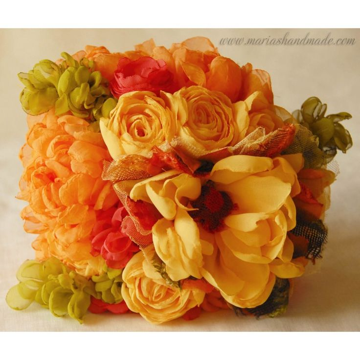 Fabric bridal bouquet, Summery bridal bouquet, by M.aria's Handmade fabric bridal bouquets
