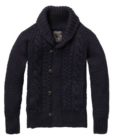 Shawl Collar cable knits