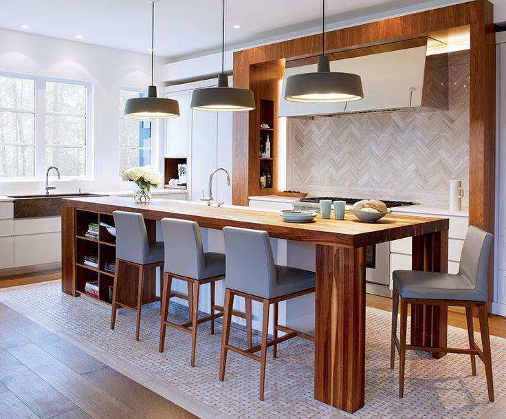 Une maison épurée | CHEZ SOI Photo: ©TVA Publications | Yves Lefebvre #deco #visiteguidee #inspiration #maison #cuisine
