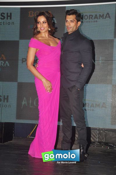 Bipasha Basu & Karan Singh Grover at the Music preview of Hindi movie 'Alone' at Bora Bora in Andheri, Mumbai