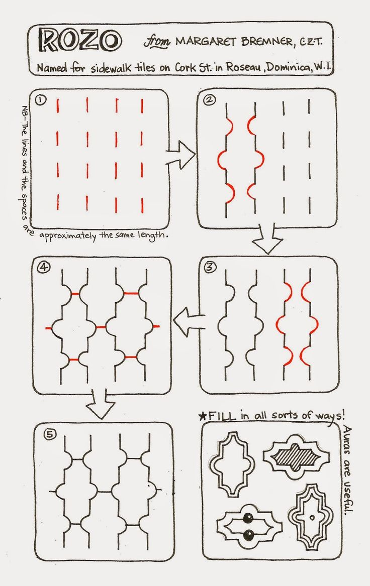 Enthusiastic Artist: ROZO - a new tangle!