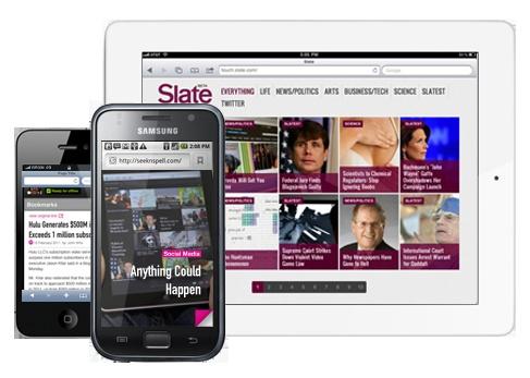 create ipad and iphone sites - no dev needed