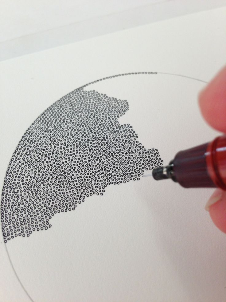 Organic circle drawing Would be cool to make with the print of the world
