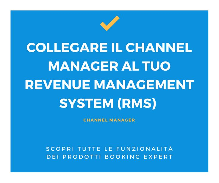 Collega il nostro Channel Manager al tuo Revenue Management System (RMS) in modo sicuro! Booking Expert | Hotel | Info: http://goo.gl/xnoUmg