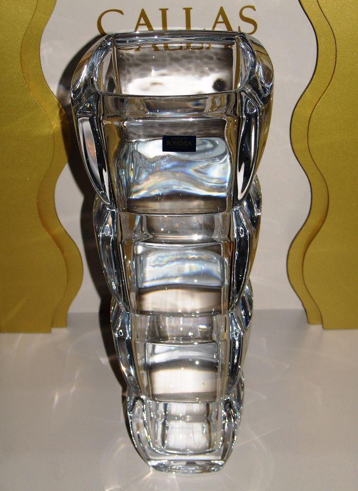 Crystalite Bohemia Vaso Segment 340 in Cristallo Czech Republic / Fiori