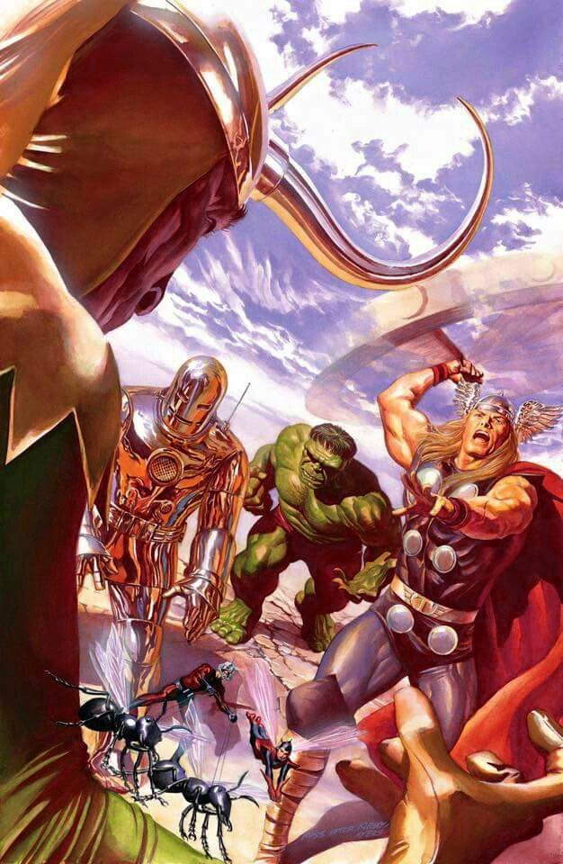 Marvel Comic Book Artwork O The Avengers By Alex Ross Follow Us For More Awesome