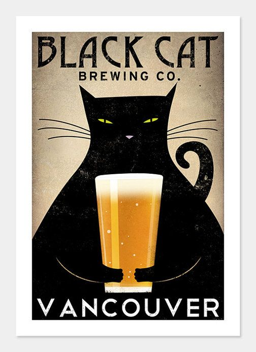 FREE Personalization Black cat Brewing Company by nativevermont, $39.00