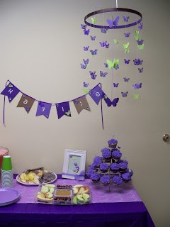 Exceptional Purple Butterfly Baby Shower Handmade Butterfly Mobile. #butterfly # Babyshower #purple