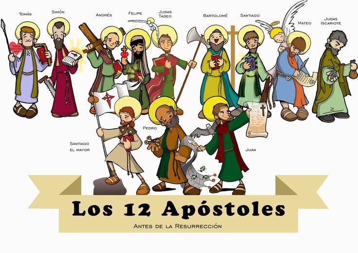 LOS DOCE APÓSTOLES Dibujos para catequesis