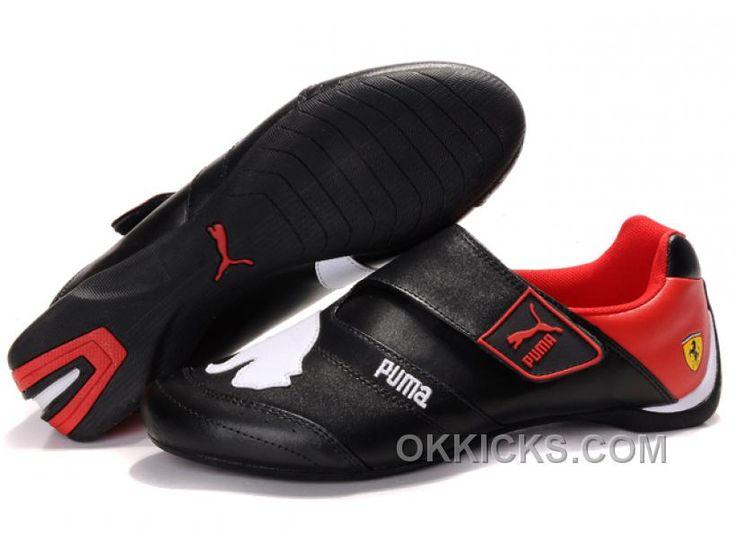 Men's Puma Baylee Future Cat II In Black/White/Red KQEHy