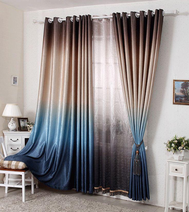 Шторы для гостиной жаккардовые шторы двусторонняя печать современный занавес пробивая стиль затемнение гостиная занавес купить на AliExpress