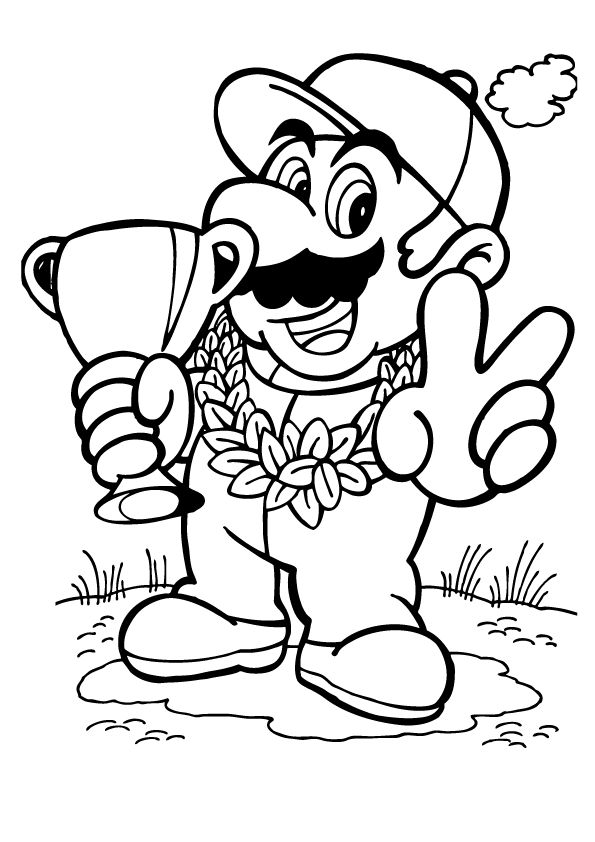 mario kart coloring pages - Mario Kart Coloring Pages