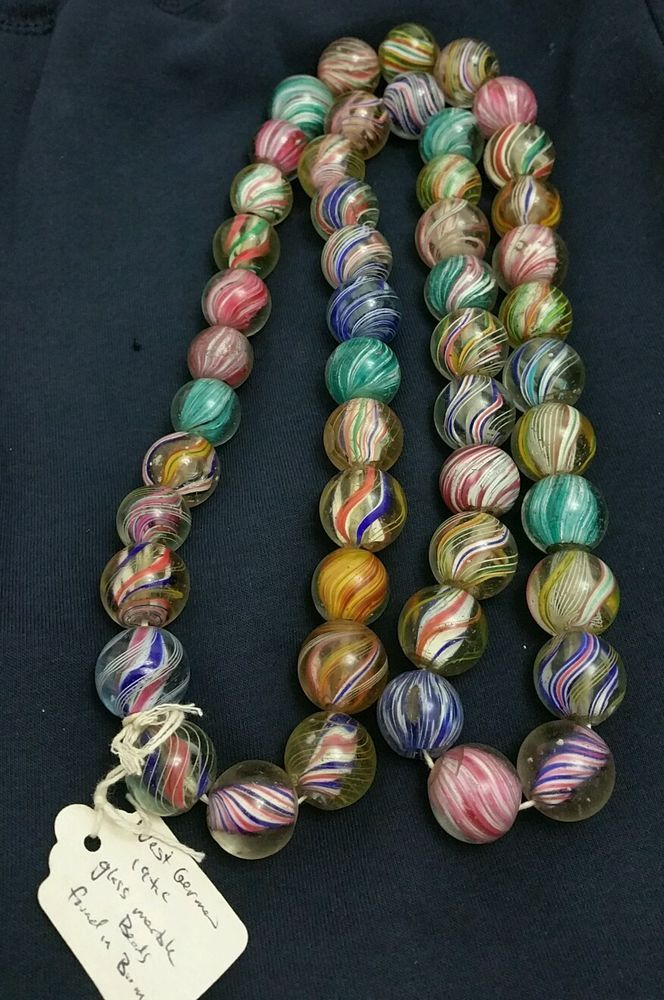 Antique German Marble Beads