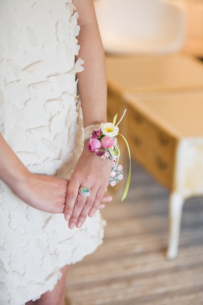 flower corsage - this is just to give you an idea of what a wrist corsage looks like but not the flowers as they would be different.