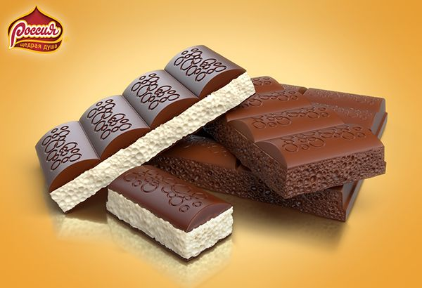 Rossia Aerated Chocolate on Behance