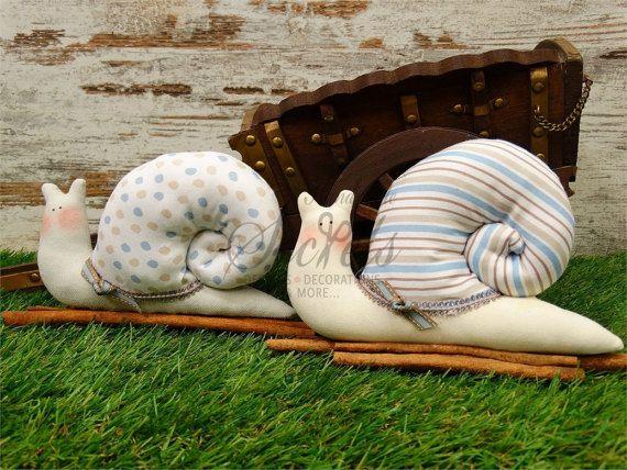 Snails Handmade Snails Fabric Snails Snails Made Of Fabric