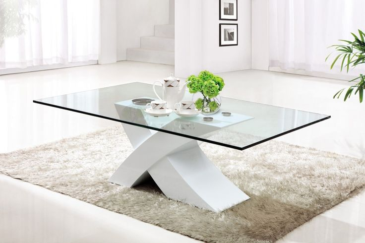 Decorating A Square Glass Coffee Table