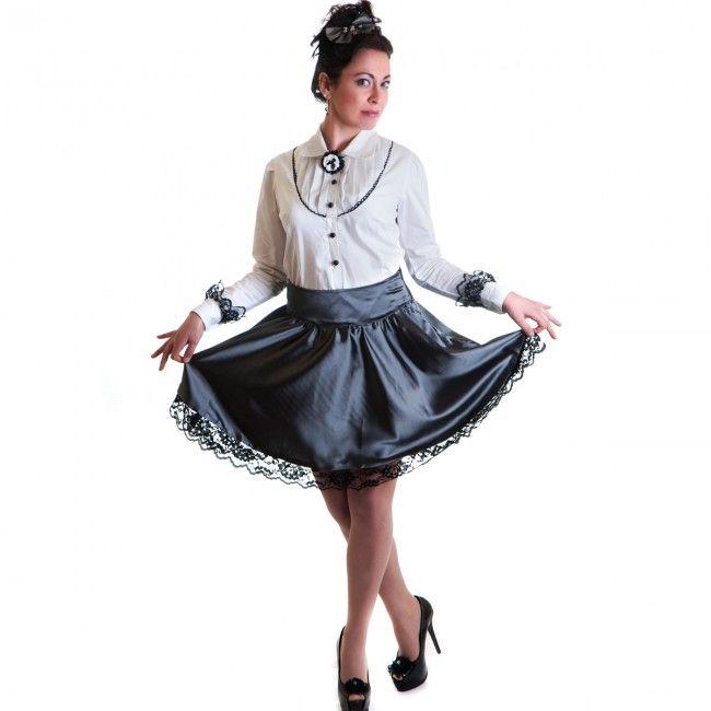 Shitsville Clothing - Victoria Grey Skirt