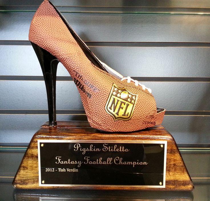 Pigskin Stiletto Female Fantasy Football League Trophy