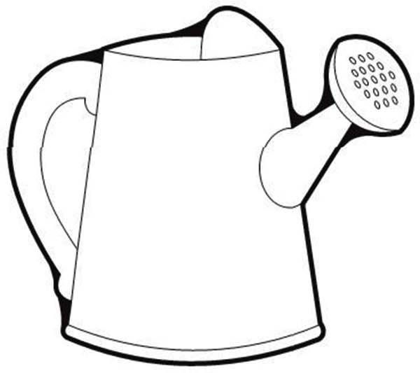 Watering Can Picture Of Watering Can Coloring Page Watering