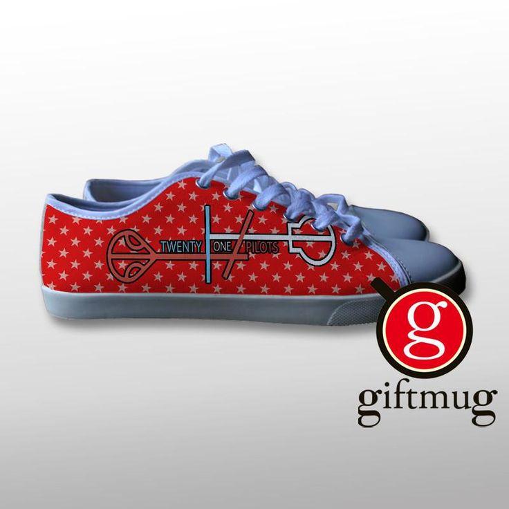 Twenty One Pilots Logo 3 Canvas Shoes #shoes #21pilots #twenty #one #pilots #gift #cover #logo