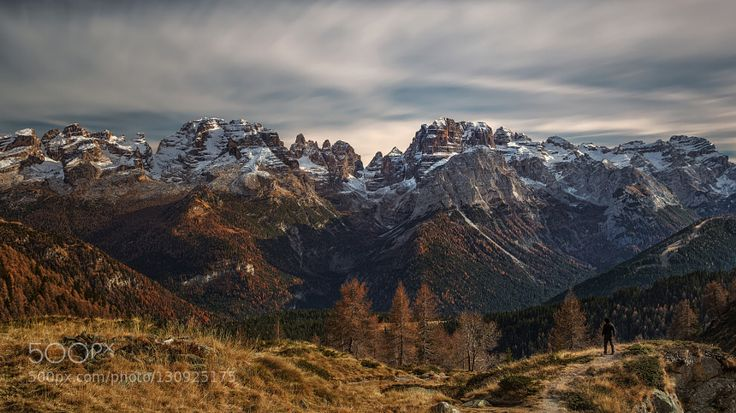 Dolomiti Brenta by Guerrini Stefano - Pinned by Mak Khalaf guerrinistefano@yahoo.it A view of Dolomiti Brenta mountains from Ritorto lake. Thanks for your comment and suggestions! Landscapes Brentaautumnautunnobluecloudsdolomitesdolomitiforestgreenguerriniitaliaitalylightlong exposuremadonna di campigliomountainmountainsredritortoskytraveltreetreeswoods by guerrinistefano