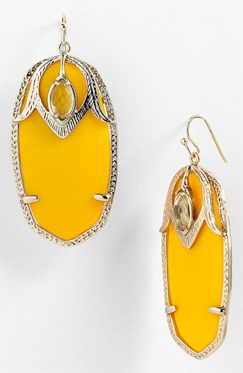 Kendra Scott 'Darby' Oval Stone Statement Earrings available at Nordstrom: Scott Jewelry, Style, L'Wren Scott, Kendra Scott My, Scott Earrings, Yellow, Accessories, Colorful Jewels